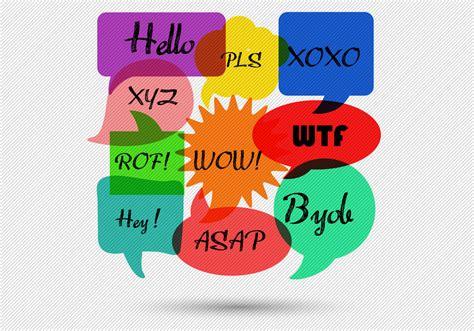 speech bubbles message vector   vector