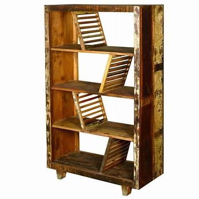 Shelves Reclaimed Wood Rustic Bookcase Shelf Open