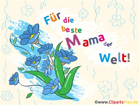 muttertag clipart bild illustration karte