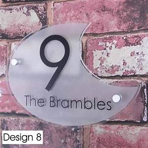 Plaque Numero Maison Design : personalised house sign door number street address plaque glass effect acrylic ebay ~ Melissatoandfro.com Idées de Décoration