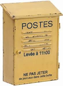 Boite A Cles Murale : range courrier postes jaune ~ Teatrodelosmanantiales.com Idées de Décoration