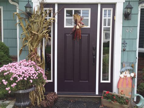 i always wanted an eggplant colored front door finally
