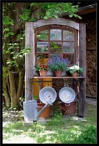 Deko Fenster Für Garten : garten erstaunlich alte fenster als deko im garten f r altes gestalten okno pinterest garden ~ Orissabook.com Haus und Dekorationen