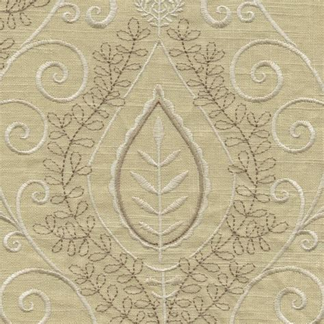 white linen drapery fabric society hill latte white embroidered linen drapery