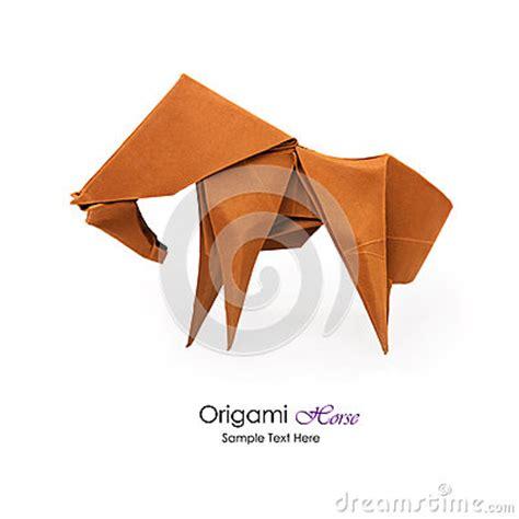 cheval d origami photo stock image 58526216