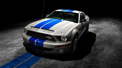 Full Hd Wallpaper Ford Mustang Line Black And White