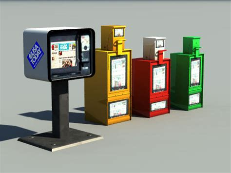 models newspaper vending machines pov ray