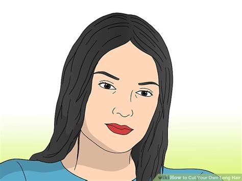 how to style your own hair how to cut your own hair wikihow 8989