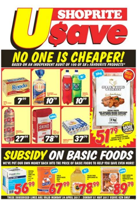 kzn usave shoprite deals  apr     black