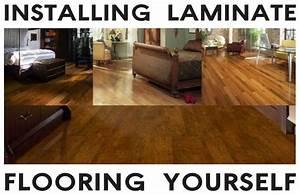 Laminate flooring leveling floors laminate flooring for How to install glueless laminate flooring