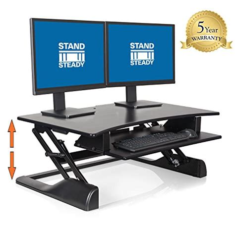 Office Desk No Assembly Required by Stand Steady Standing Desk Precision Desk Converter W