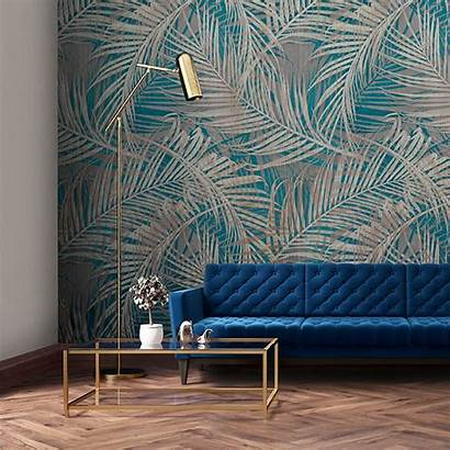 Mural Myriad Teal Feature Tapety Jungle Living