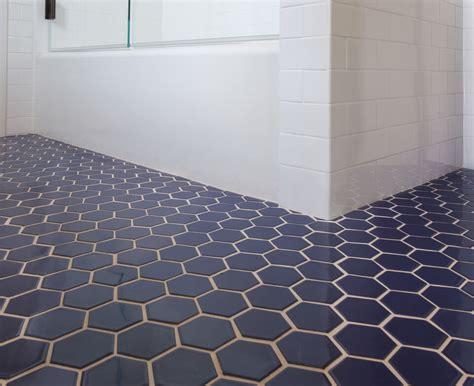 tile master bathroom ideas blue hexagon tile bathroom floor cabinet hardware room