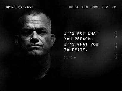 Jocko Podcast Willink Quotes Redesign Website Dribbble