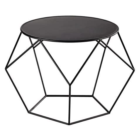 table bout de canapé table basse ronde en métal prism maisons du monde