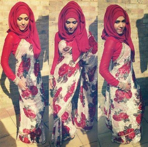 saree styles  muslims stylish hijab  saree