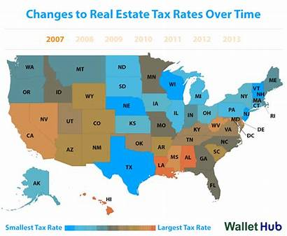 Tax Estate States Rates Property Taxes Lowest