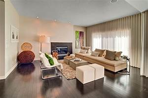 Glamorous, Convertible, Couch, In, Living, Room, Contemporary