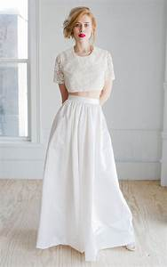 two piece gowns dressed up girl With 2 piece wedding dresses