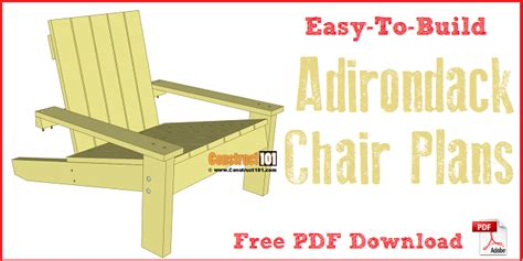 Adirondack Chair Plans Pdf by Simple Adirondack Chair Plans Pdf Construct101
