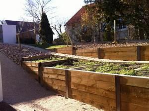 Bac En Bois Pour Jardin : amenagement bois jardin abri de jardin bois paysagiste clermont ferrand ~ Melissatoandfro.com Idées de Décoration