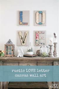 love wall art canvases tutorial diy show off tm diy With love wall art letters