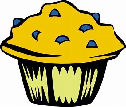 Clip Muffin Blueberry Clipart Clker