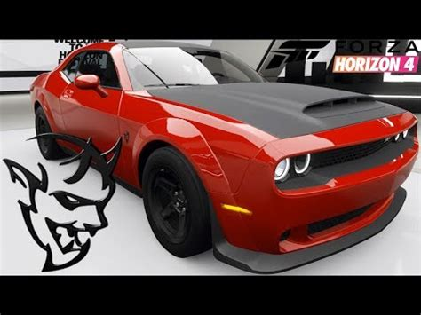 forza horizon  dodge demon customization top speed
