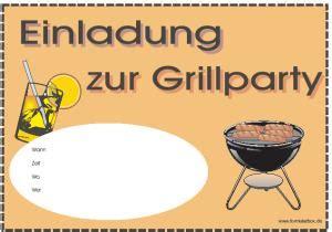 vorlage einladung grillparty selbst erstellen als