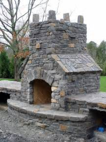 Building Stone Fireplace by How To Build Outdoor Fireplace Home And Gardening