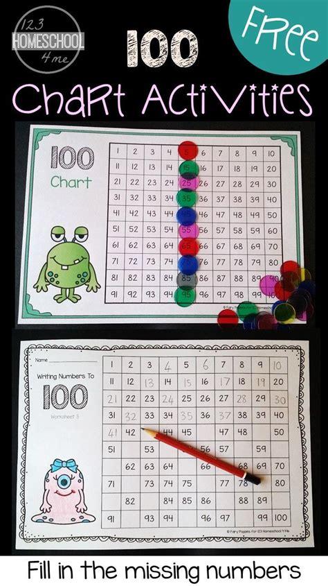hundreds chart worksheets  images fun math