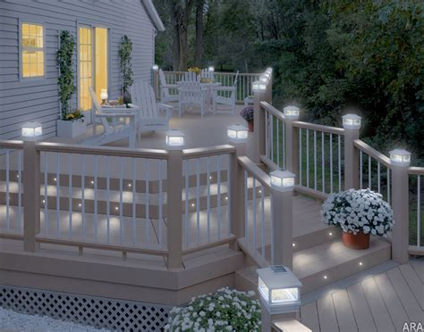 deck railing lights ideas this would take care of having to wrap the railing in christmas lights much more classy home