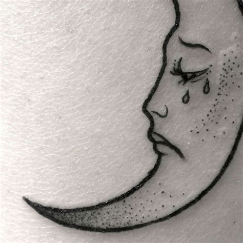 crying moon aesthetic tattoo tattoos crying aesthetic