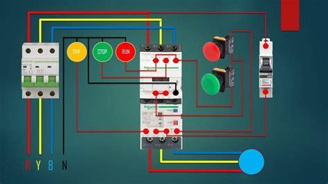 phase dol starter control overload indicator power