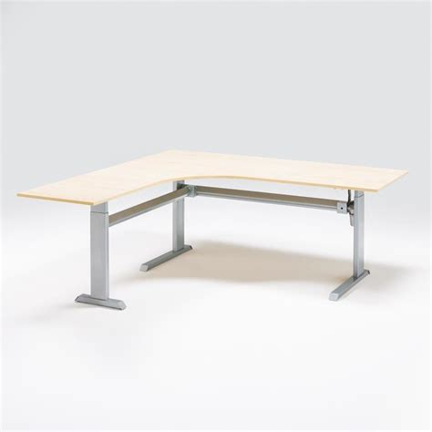 l shaped adjustable desk quot flexus quot height adjustable desk l shaped aj products