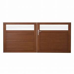 Lapeyre Portail Bois : portail battant bois fontaine gamme confort lapeyre ~ Premium-room.com Idées de Décoration