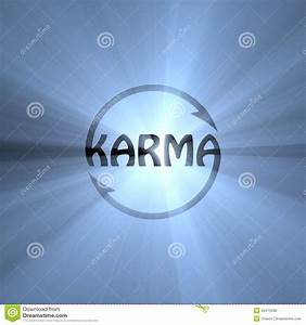 Karma Letter Buddhism Sign Light Flare Stock Illustration ...
