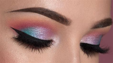 colorful makeup soft colorful smokey eye makeup tutorial