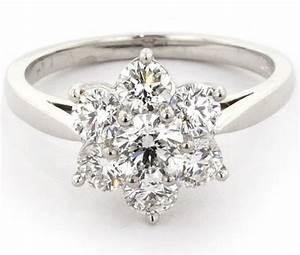 flower diamond engagement ringengagement rings With diamond flower wedding ring