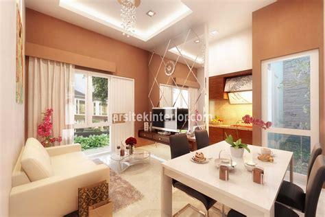 desain interior ruang keluarga  tamu  rumah kecil