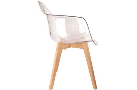 chaise transparente avec accoudoir lot de 2 chaises scandinaves avec accoudoir transparentes