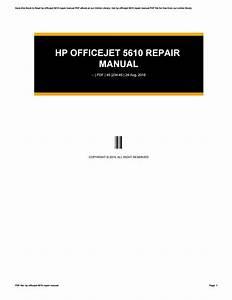 Hp Officejet 5610 Repair Manual By Reddit2