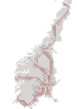 NSB, norwegian State Railways - Visit, norway