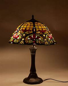 Tiffany, Table, Lamp, Stained, Glass, Nightstand, Light, Tiffany