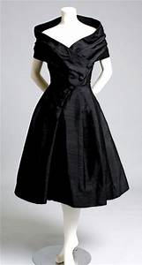 #Vintage 1950s #Christian #Dior #black #cocktail #dress ...