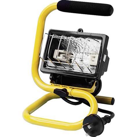 portable halogen work light arlec 150w portable halogen worklight bunnings warehouse
