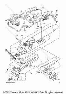 Yamaha Motorcycle 2009 Oem Parts Diagram For Exhaust