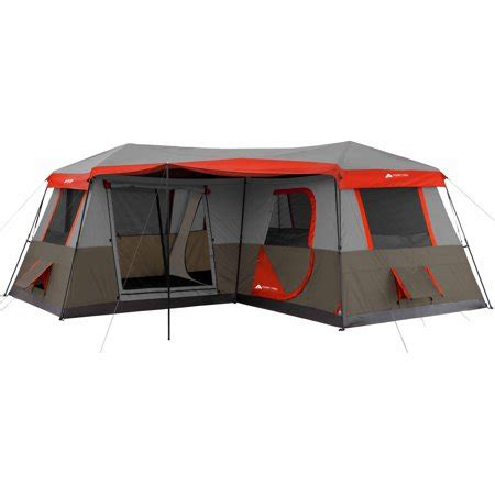 ozark trail 10 person 3 room instant cabin tent ozark trail 16x16 instant cabin tent sleeps 12 walmart