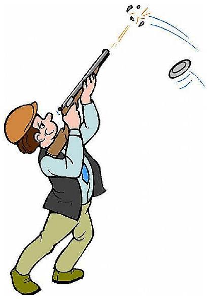 Shooting Clay Clip Clipart Pigeon Trap Skeet