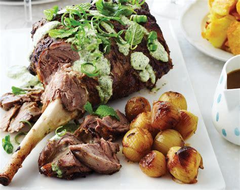 Recipe  Marinated Roast Lamb With Fresh Mint Topping